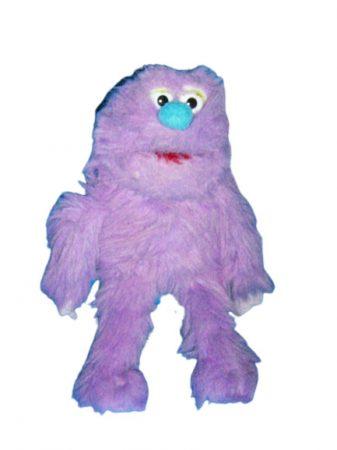 Silly puppet,lila szörny kézbáb
