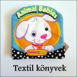 Készségfejlesztő baba könyvek /textil, plüss/