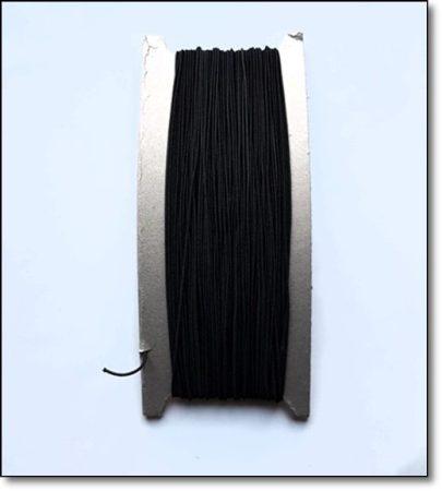 Nincs készleten/Kalapgumi/ 1 mm/ fekete